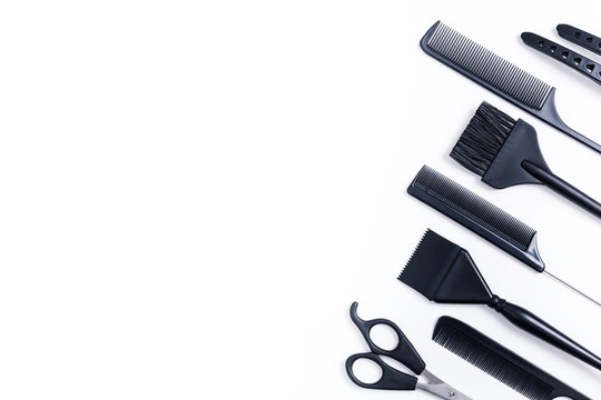 Hairdressing tools top view