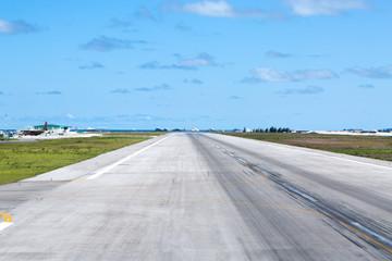 Asphalt airport airstrip