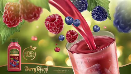 Berry blend juice ads