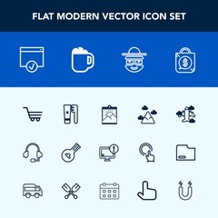 Modern, simple vector icon set with travel, mountain, flight, aircraft, airplane, frame, picture, headset, blue, plane, hygiene, price, desktop, support, shop, clean, cartoon, cart, care, string icons