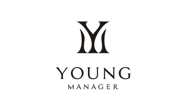 Monogram Initials YM MY logo design inspiration