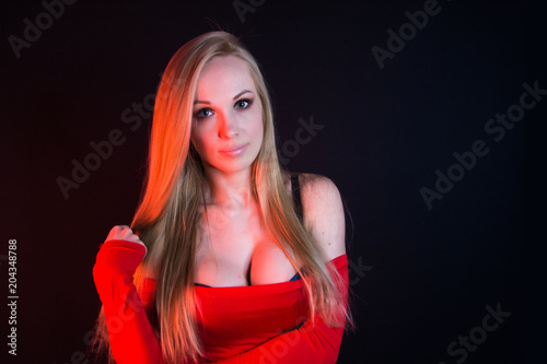 Big boobs hot sexy blonde woman