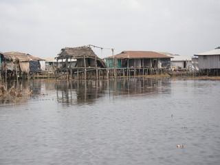 Case tradizionali sul lago di Ganvié, Benin