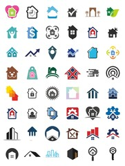 home logo. roof icon. building symbol. vector eps 08.