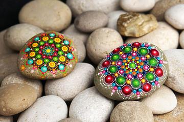 Beautiful hand painted mandala rocks