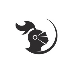 Helmet of Knight logo. Armor icon. Warrior symbol. Vector eps 08.