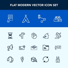Modern, simple vector icon set with way, key, balance, internet, work, navigation, hourglass, thermometer, time, modern, money, estate, card, scale, window, business, loud, satellite, clock, map icons