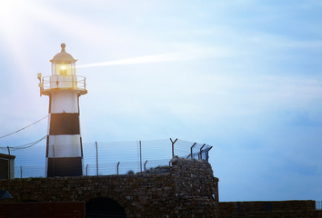 image of old Lighthouse in the twilight.