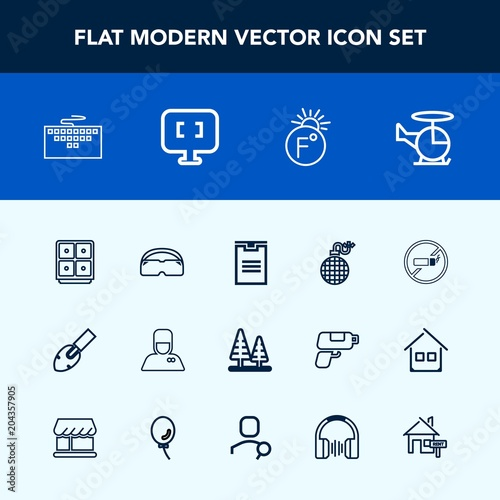 Modern Simple Vector Icon Set With Air No Shipping Delivery