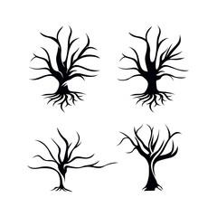 Dry Tree Silhouette Set