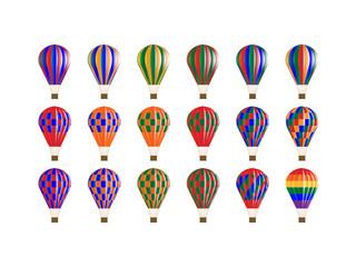 カラフルな気球