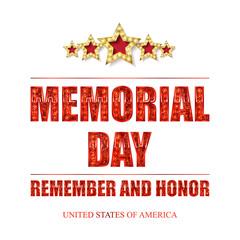 Memorial day background vector art