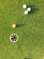 Putting green sunset golf