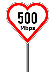 High speed internet as a road sign