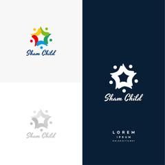 Child Dream logo designs concept vector, Star Group logo designs, Sham Child logo