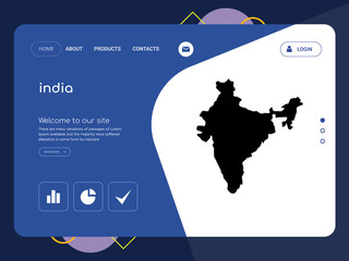 india Landing page website template design