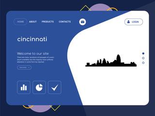 cincinnati Landing page website template design