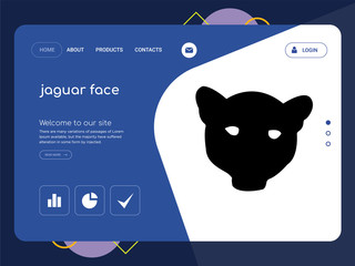 jaguar face Landing page website template design