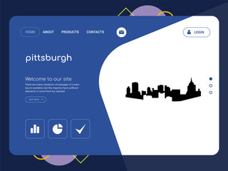 pittsburgh Landing page website template design