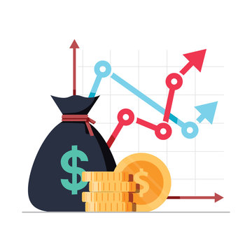 Income increase strategy, Financial high return on investment, fund raising and revenue growth interest rate