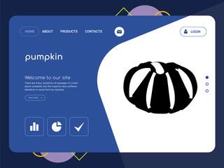 pumpkin Landing page website template design