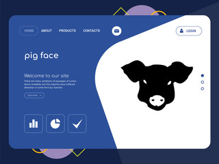 pig face Landing page website template design