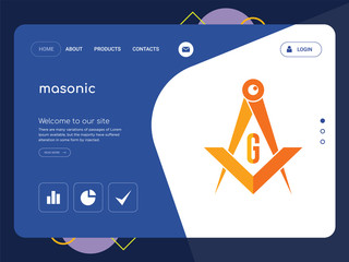 masonic Landing page website template design