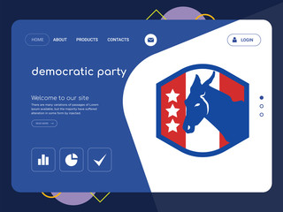 democratic party Landing page website template design