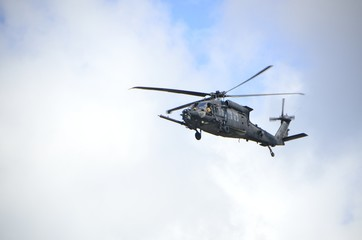 helicopter in flight background