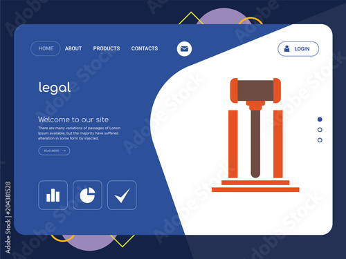 legal landing page website template design fotolia com の ストック