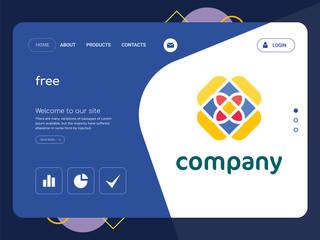 free Landing page website template design