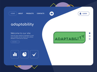 adaptability Landing page website template design