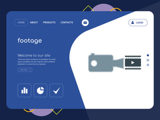 footage Landing page website template design
