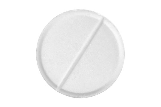 white tablet isolated on white background