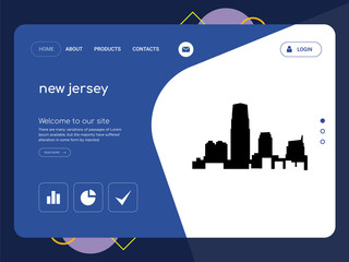 new jersey Landing page website template design