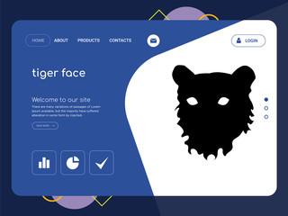 tiger face Landing page website template design