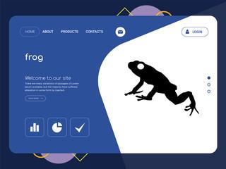frog Landing page website template design