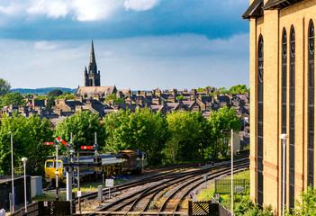 Aluminium Prints Train Station Train Station harrogate UK