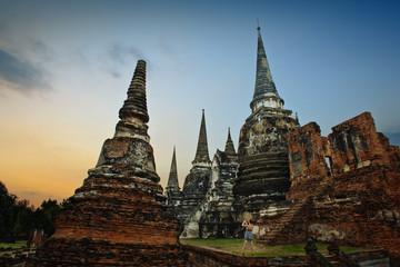 A Wat Yai Chai Mongkhon in Ayutthaya, Thailand.
