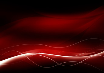 Deurstickers Fractal waves elegant abstract red background