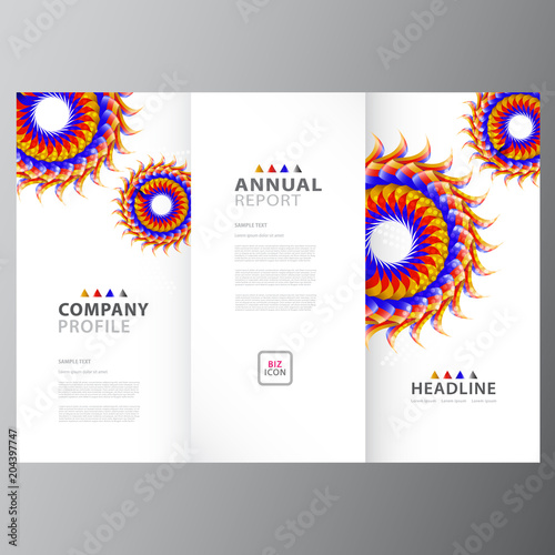 annual business report template stock image and royalty free vector