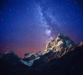 Ushba at night