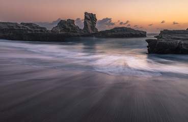Beautiful seascape of Klayar beach, Pacitan, East Java, Indonesia