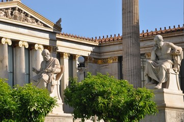 Socrate et Platon, Athènes, Grèce