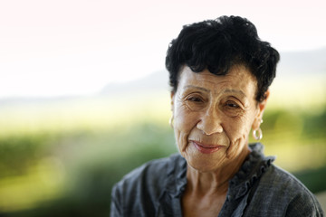 Portrait of smiling senior woman.