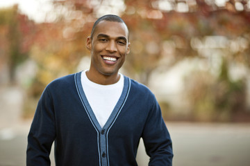 Portrait of smiling mid-adult man.