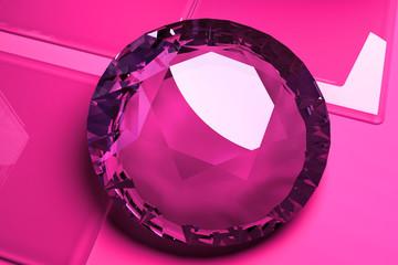 Diamant Stein Edelstein Juwelen Luxus pink