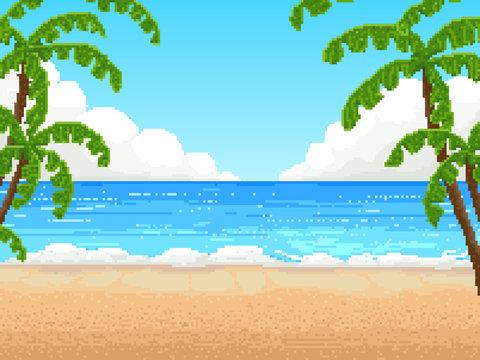 retro pixel vector design