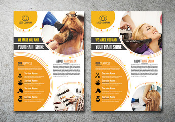 Hair Salon Flyer Layout