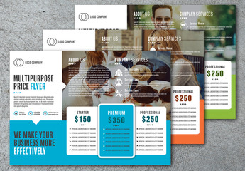 Business Services Price Flyer Layout